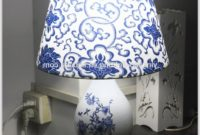 Blue And White Table Lamp Shades