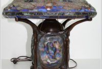Blue Tiffany Style Lamp Shade