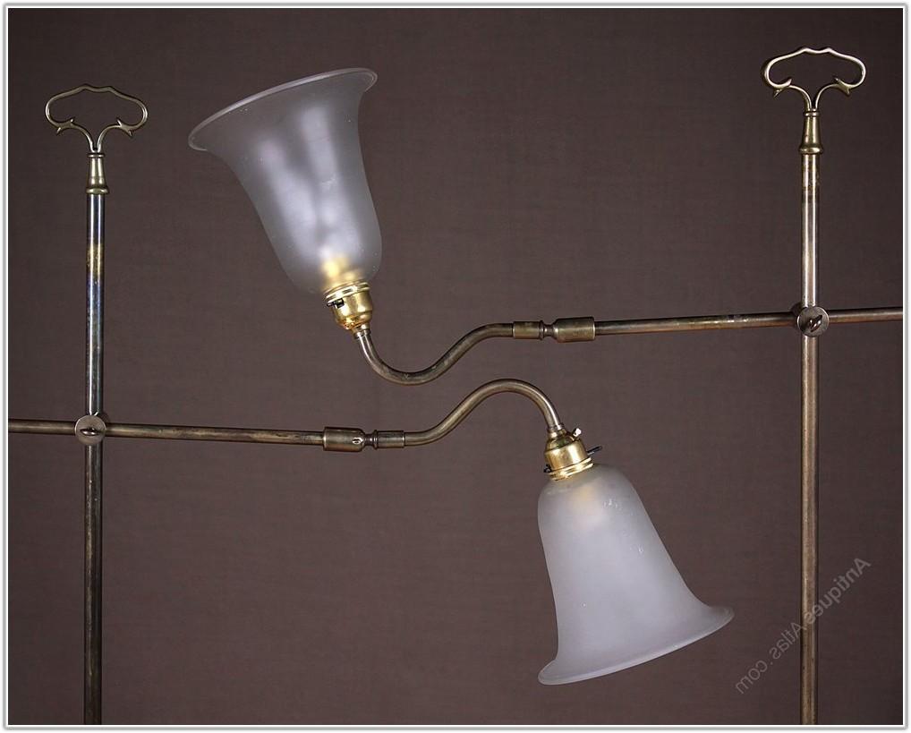 Brass Floor Standing Reading Lamps
