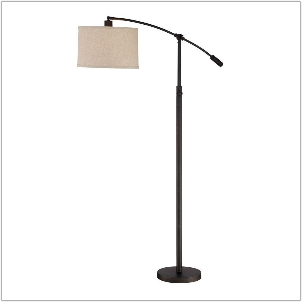 Bronze Floor Lamp Drum Shade