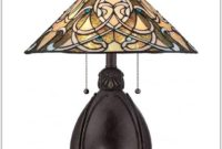 Bronze Table Lamp With Glass Shade