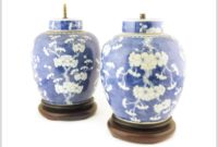 Chinese Blue And White Ginger Jar Lamps