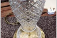 Clear Cut Glass Table Lamps