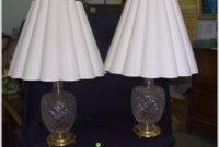 Crystal Cut Glass Table Lamps