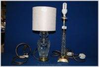 Cut Glass Table Lamp Base