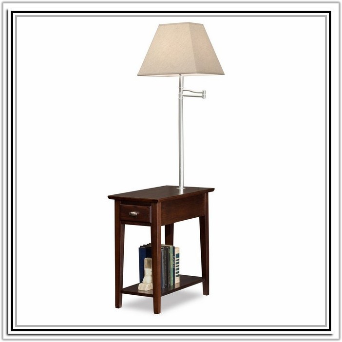 End Table With Built In Lamp
