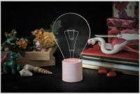 Exposed Light Bulb Table Lamp