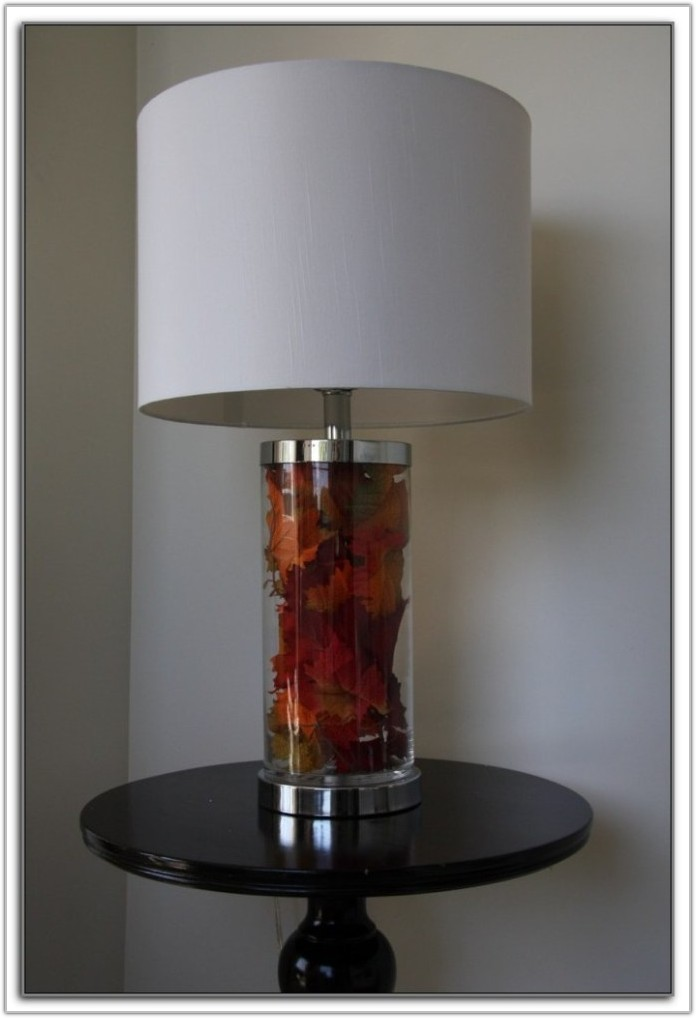 Fillable Glass Base Table Lamps