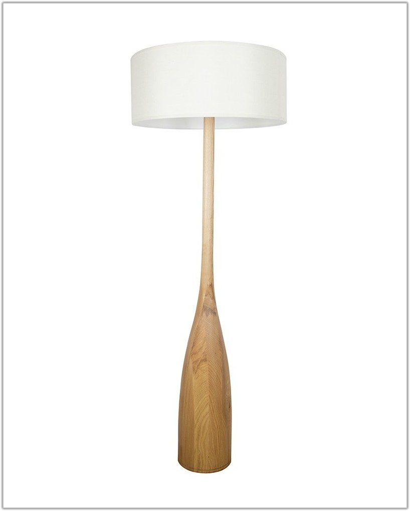 Floor Lamp With Large Drum Shade