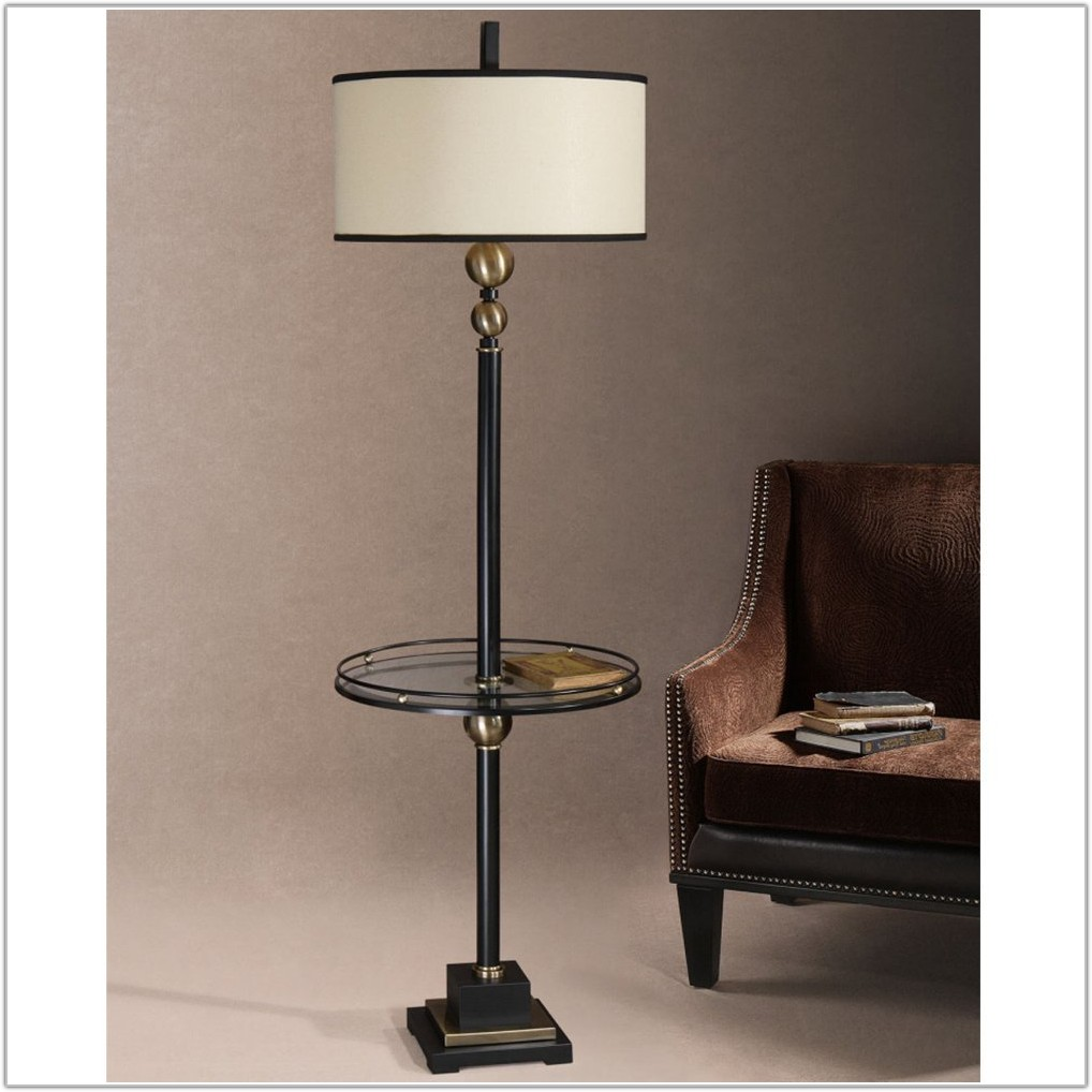 Floor Lamp With Table Vintage