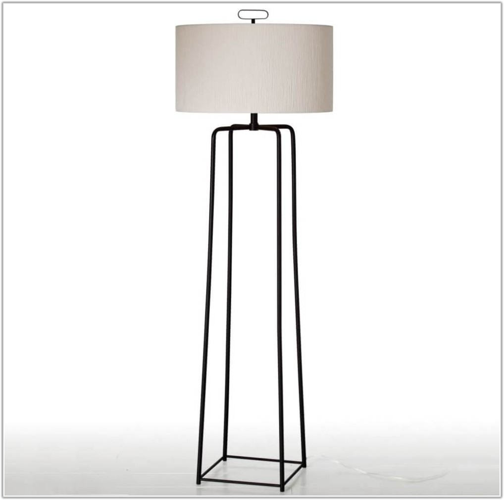 Floor Lamp With White Drum Shade
