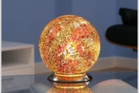 Glass Ball Table Lamp Brown