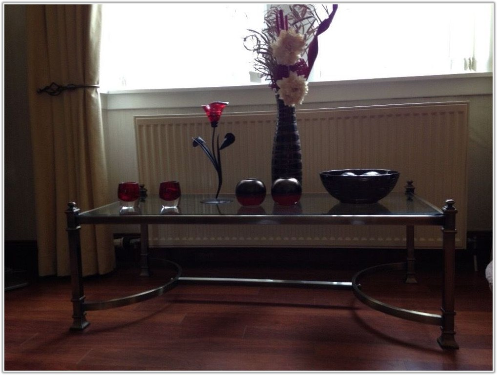 Glass Coffee And Lamp Tables