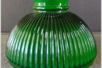Green Glass Oil Lamp Shade