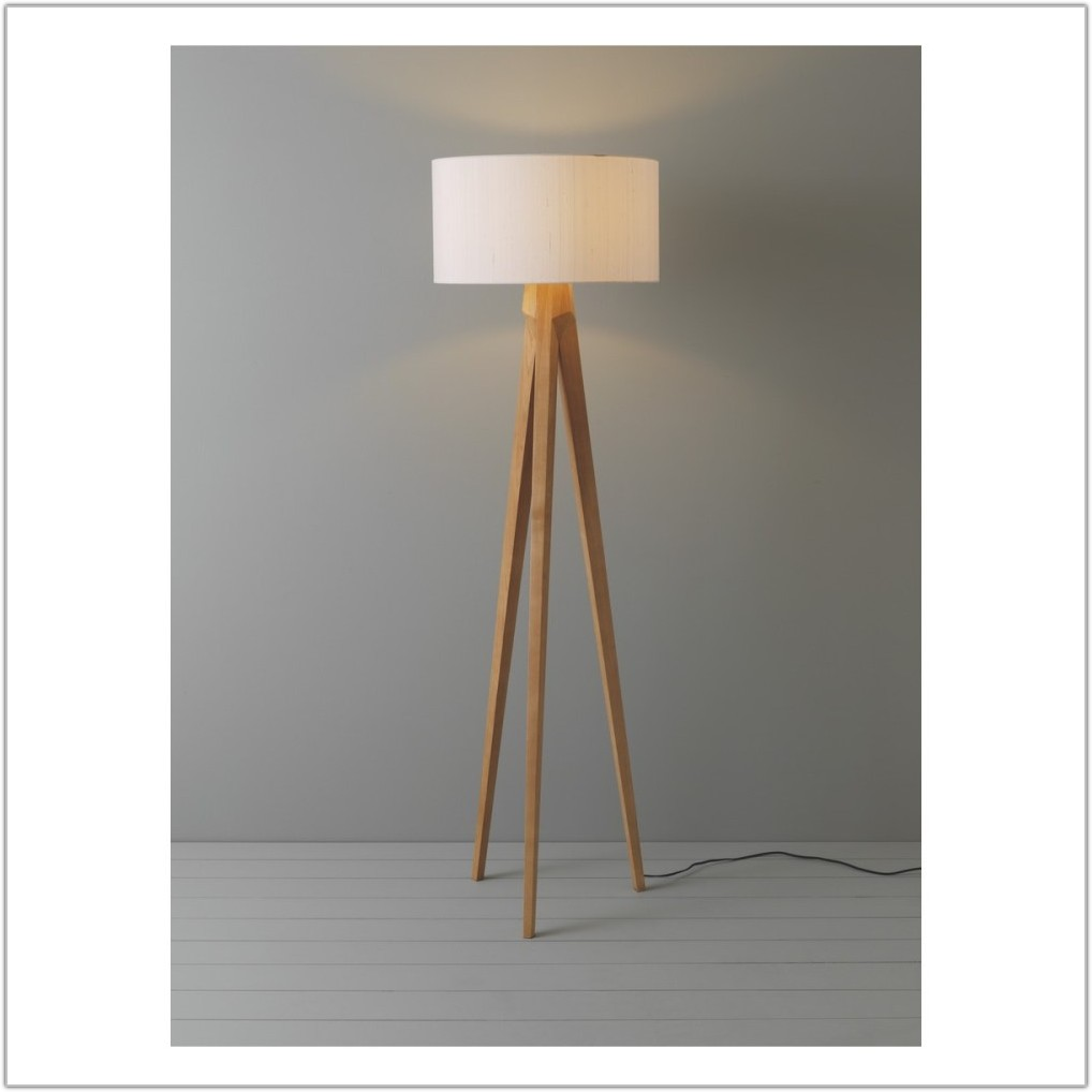Habitat Tripod Floor Lamp Base Wooden