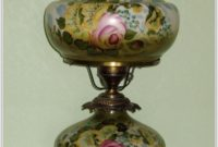 Hand Painted Hurricane Table Lamps