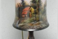 Hand Painted Lamp Shades Glass
