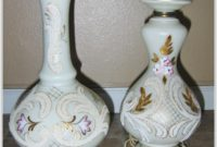 Hand Painted Victorian Table Lamps