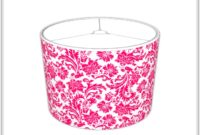 Hot Pink Chandelier Table Lamp