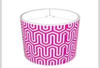 Hot Pink Chevron Lamp Shade
