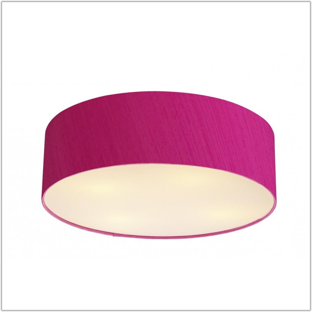 Hot Pink Silk Lamp Shades