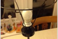 Ikea Black Metal Table Lamp