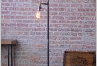 Industrial Cage Edison Bulb Floor Lamp