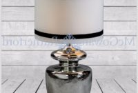 Large Black And Silver Table Lamps