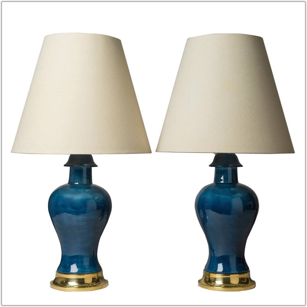 Large Blue Ceramic Table Lamps