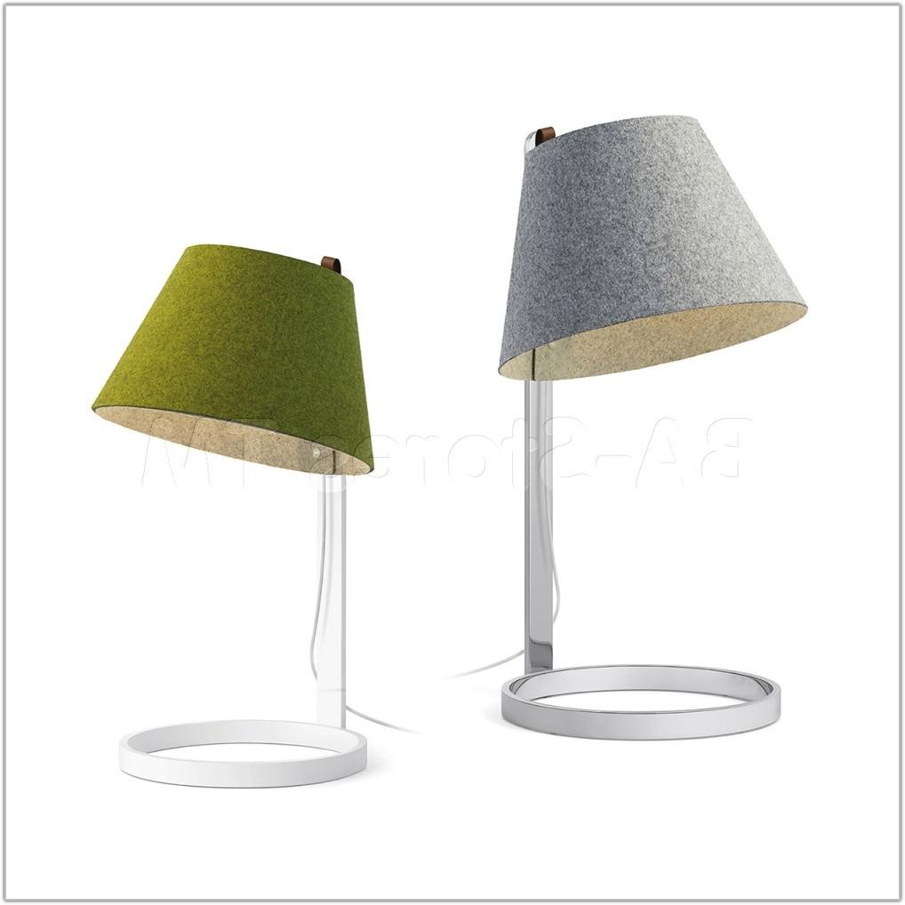 Large Chrome Base Table Lamp