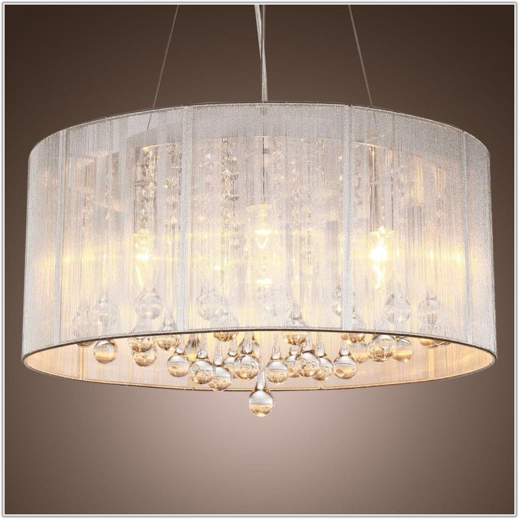 Large Drum Ceiling Lamp Shades