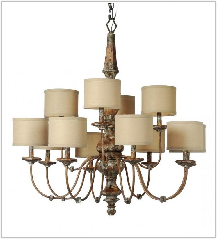 Large Drum Lamp Shades For Chandelier