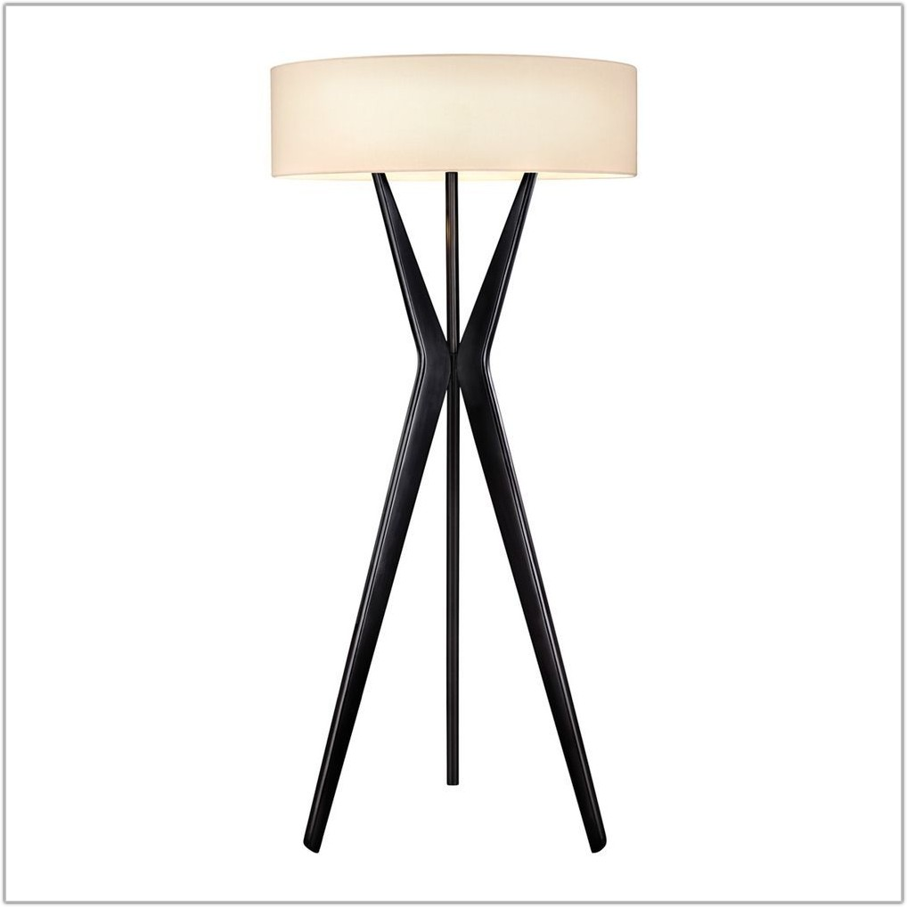 Large Drum Shade Floor Lamp