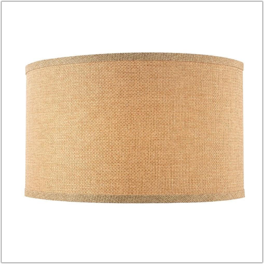 Large Drum Shaped Lamp Shades