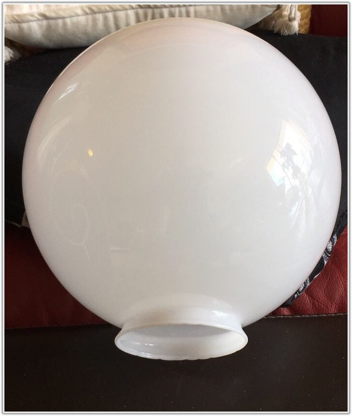 Large Glass Ball Lamp Shade