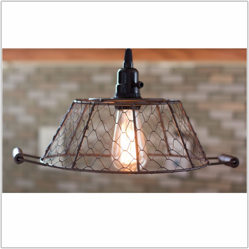 Large Lamp Shade Pendant Light