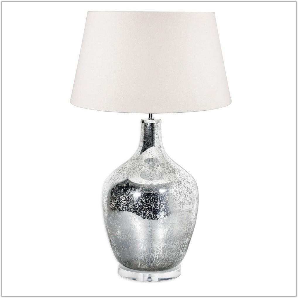 Large Mercury Glass Lamp Base