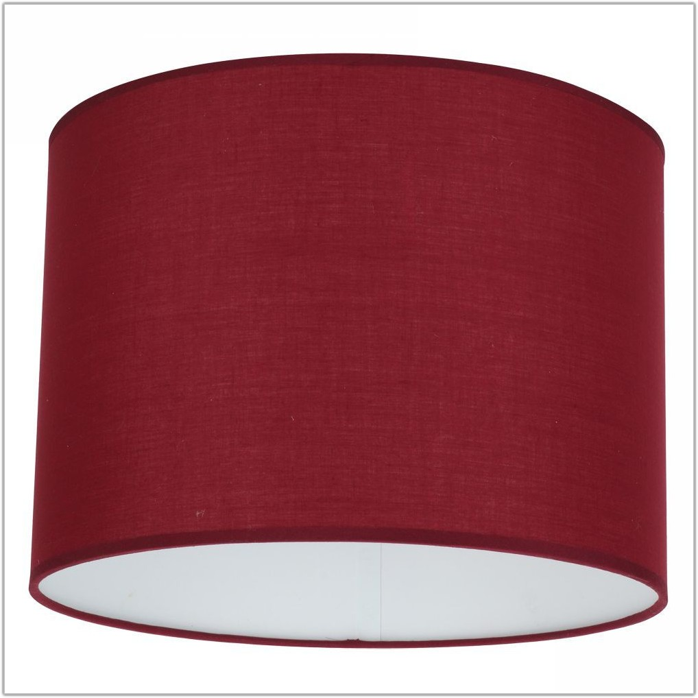 Large Red Drum Lamp Shade