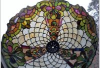Large Stained Glass Lamp Shade