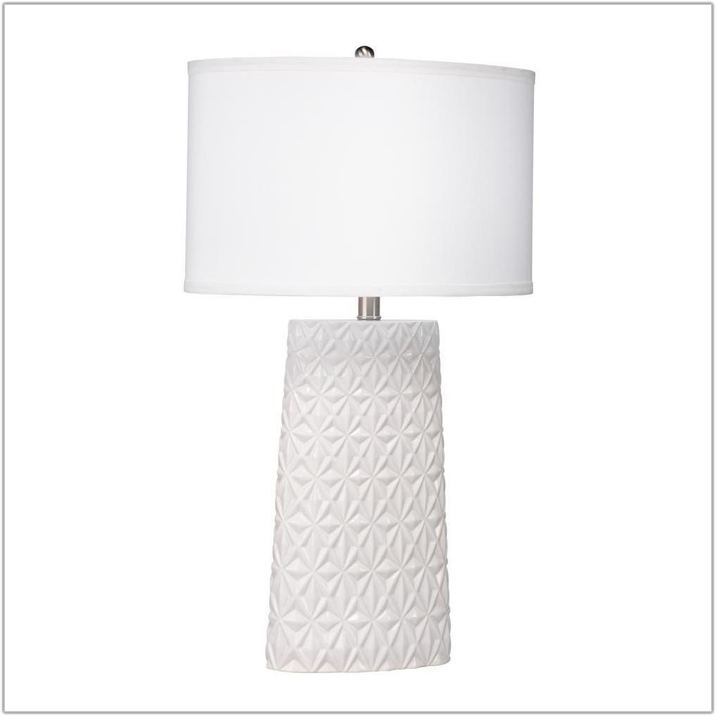 Large White Ceramic Table Lamp