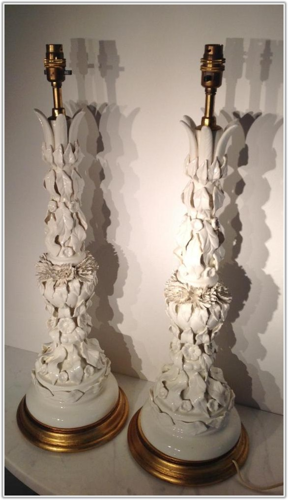 Large White Ceramic Table Lamps