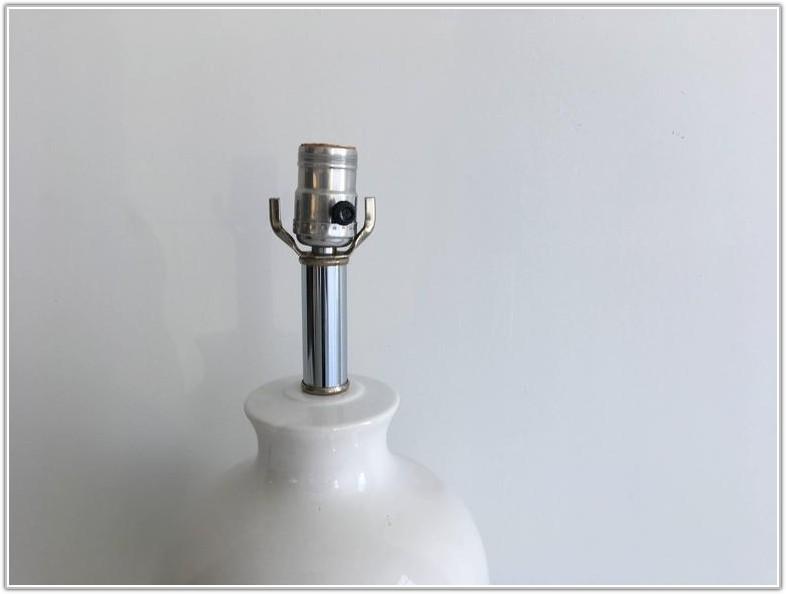 Large White Ginger Jar Lamp
