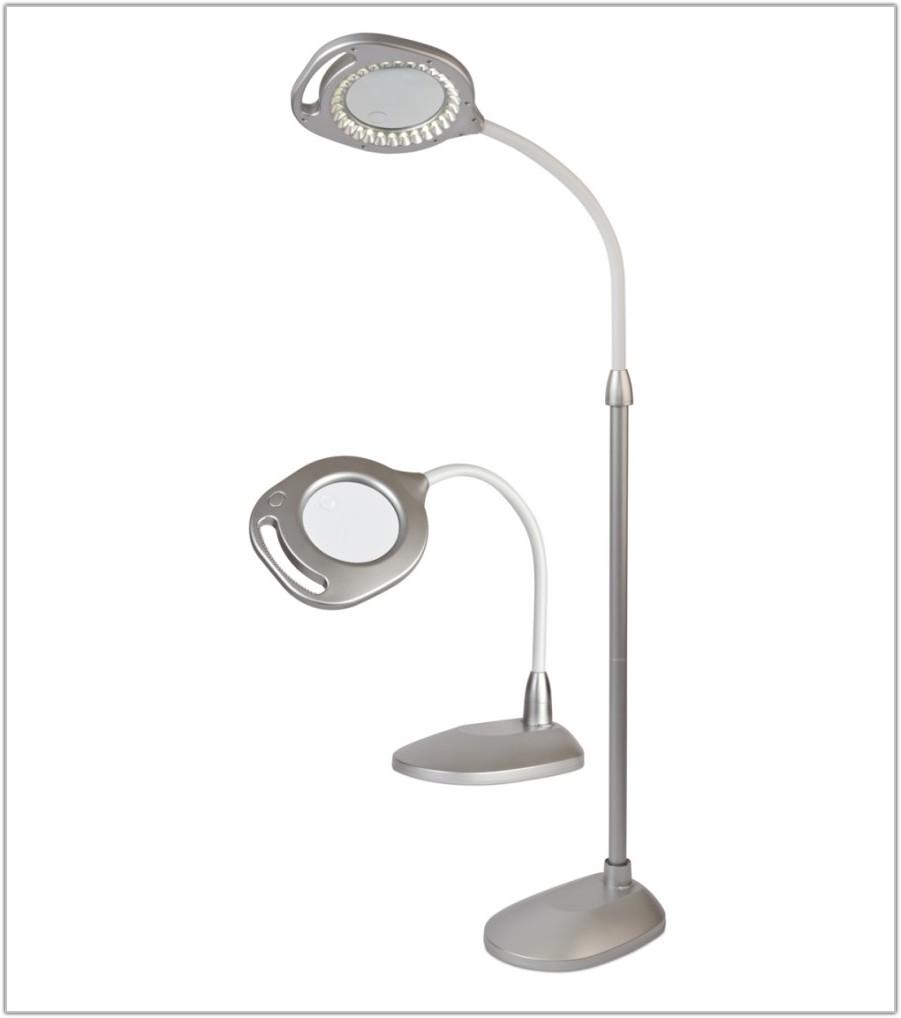Led Magnifier Floor Lamp Reading