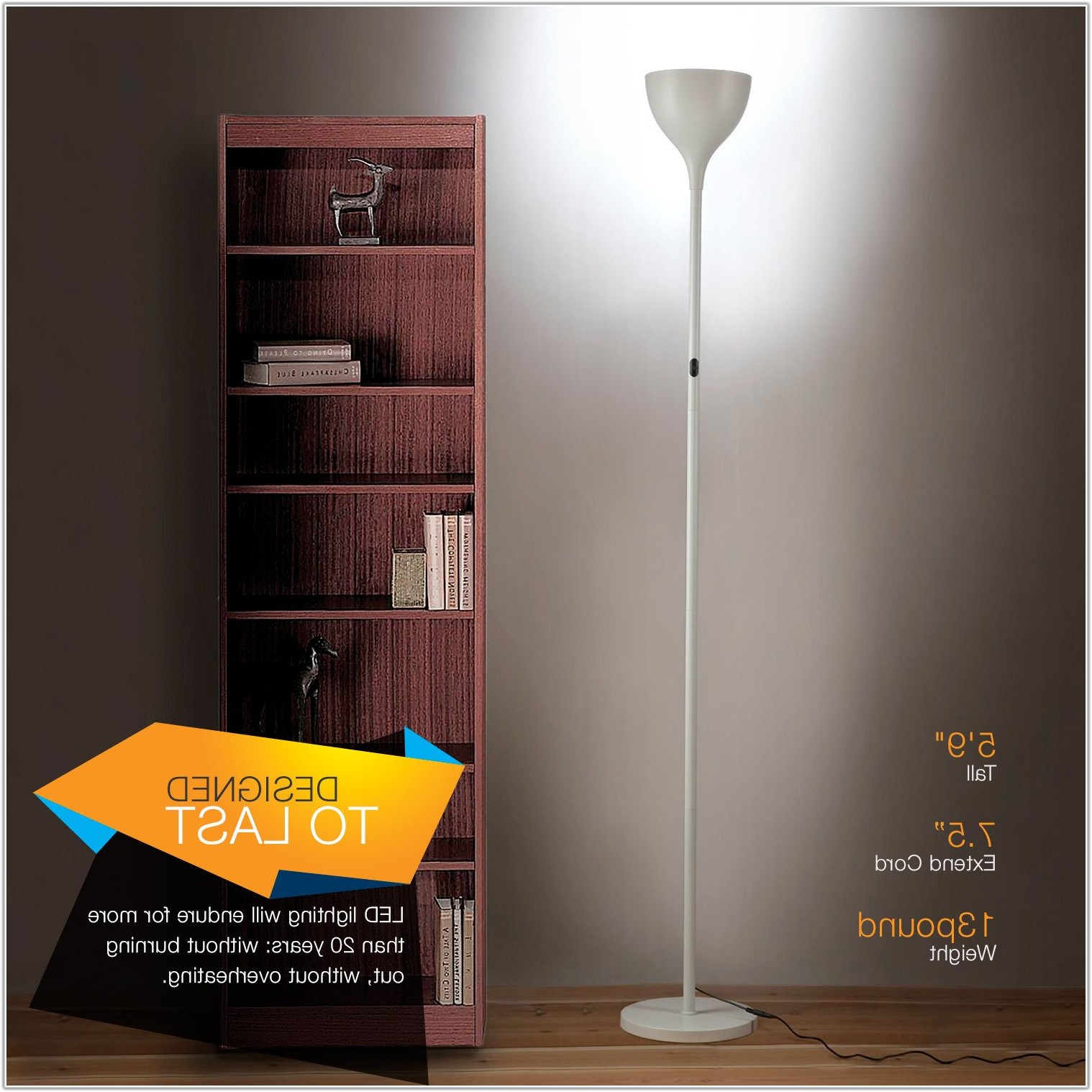 Led Torchiere Floor Lamp Dimmable