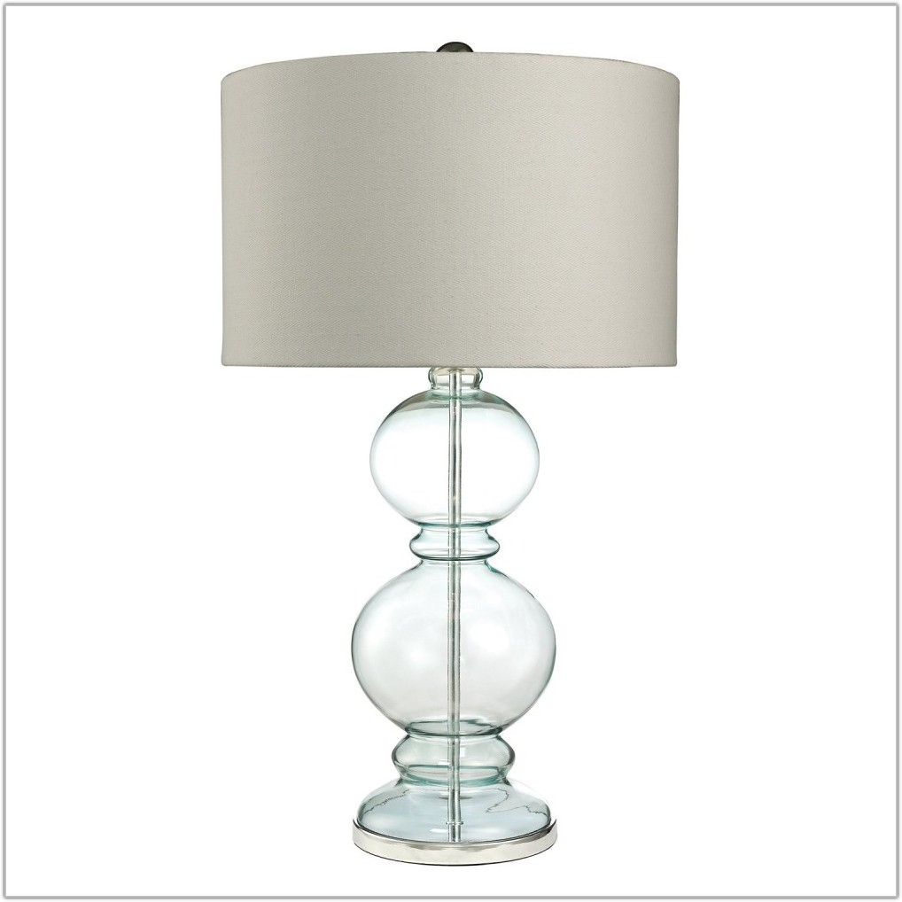Light Blue Glass Table Lamps
