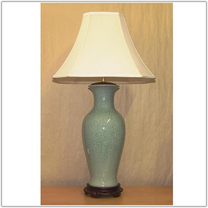 Light Blue Porcelain Table Lamp