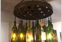 Light Fixture From Wine Bottles
