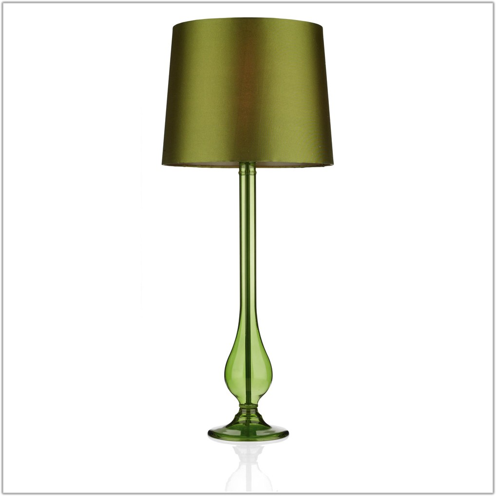 Light Green Glass Table Lamp
