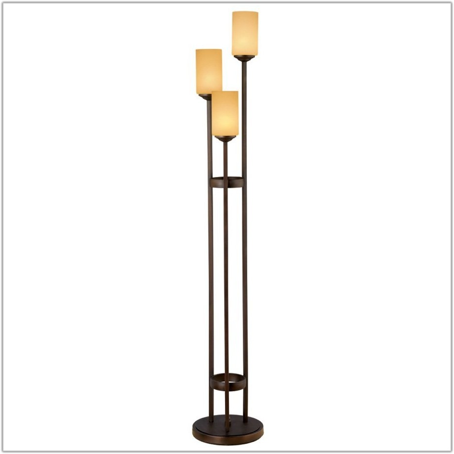 Light Tree Four Light Torchiere Floor Lamp
