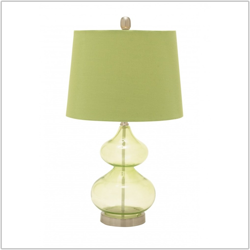 Lime Green Glass Table Lamp